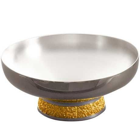 Royal Selangor Hand Finished Classic Expressions Collection Pewter Fruit Bowl with 24K Gold Plating ()