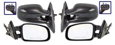 Kool Vue SET-PT12ER Mirror Set of 2 Corner mount Type Passenger & Driver Side RH LH Plastic Primered Power