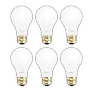 130v A21 Light Bulb - (6 PACK) SHATTERPROOF LIGHT BULB A21 150 WATT INCANDESCENT BULB SHATTER RESISTANT ROUGH SERVICE LIGHT BULB 150 WATTS A21 SHAPE