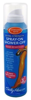 Sally Hansen Hair Remover Spry On-Shower Off 6oz X-Strength (6 Pack)
