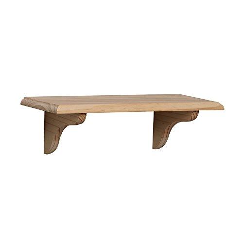 Shelf-Made KT-0148-818UF Wood Shelf Kit, Unfinished, 8-Inch by 18-Inch ()