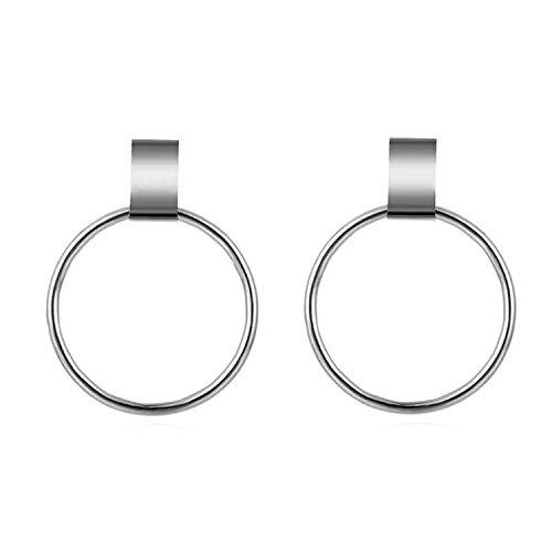 Boucle D'oreille Punk Round Earrings for Women Big Circle Drop Dangle Earring Circle Pendant Women ()