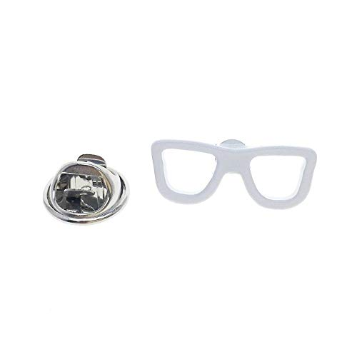 Cuff-Arts Lapel Pin Badges White Glasses Fashion Brooch Pin Badges Buttons Pins with a Gift Box P10259