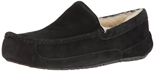 UGG Men's Ascot Slipper, Black, 16 M US (Slipper Ascot)