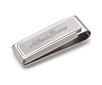 M Clip Etched Atlanta Braves Stainless Steel Money Clip At