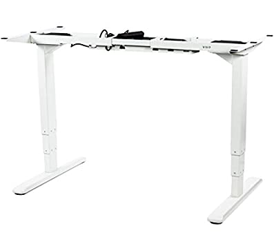 VIVO Electric Stand Up Desk Frame w/ Dual Motor and Cable Management Rack, Ergonomic Height Adjustable Standing DIY Workstation
