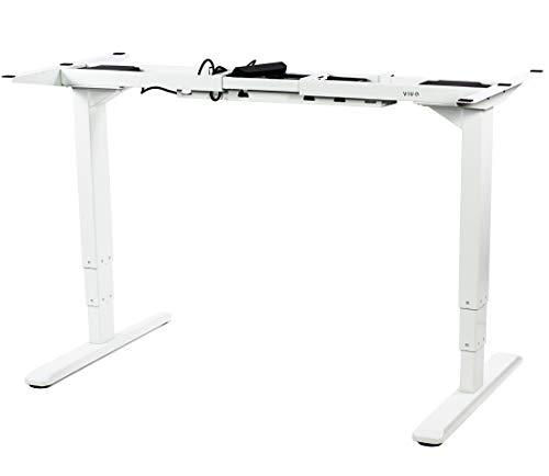 - VIVO White Electric Dual Motor Stand Up Desk Frame with Cable Management Rack   Ergonomic Height Adjustable Standing DIY Workstation (DESK-V103EW)