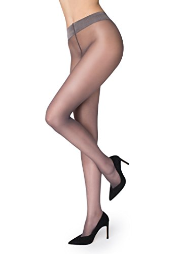 Marilyn Naked Luxe Line Pantyhose 20 Denier (Grey, M)