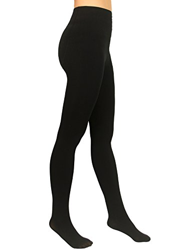 Beluring Womens 120D Opaque Footed Pantyhose Tights Stockings Black 120 Denier Tights