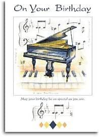 Poco roncando dones: 7 x 5 tarjeta del feliz cumpleaños - Piano ...