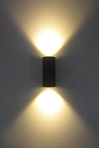 10W LED Outdoor Up & Down Wall Light, Waterproof and Outdoor Lighting Fixture for Building Home Security and Walkways, 3000K Soft White