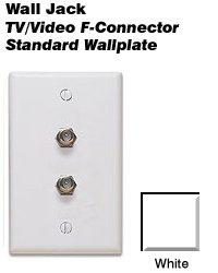 Leviton 80782-W Standard Video Wall Jack, F X F, White