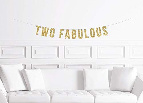 Teletubbies Birthday Party Ideas (Two Fabulous Banner Gold Glitter Second Birthday Sign 2nd Birthday Party Theme Ideas Girl'S Two Years Old Minimalistic)