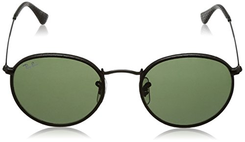3475Q CRAFT Ban Black ROUND Leather Sonnenbrille RB Ray wXg1H1