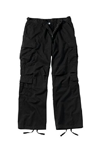 (Melonie clothing Vintage Cargo Paratrooper BDU Pants Military Fatigue Trouser Vintage Cargo Pants)