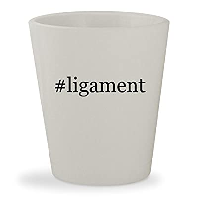#ligament - White Hashtag Ceramic 1.5oz Shot Glass