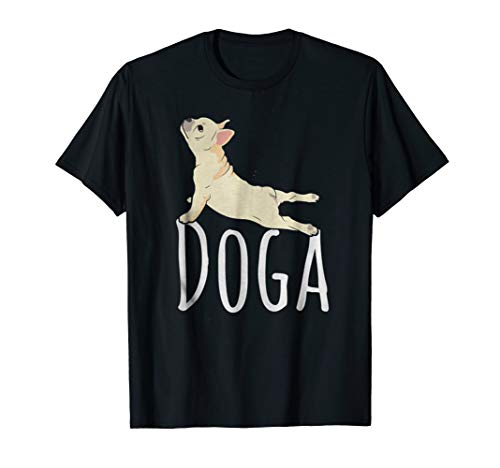 Price comparison product image Yoga Shirt - Doga Funny Downward Dog Namaste Meditation