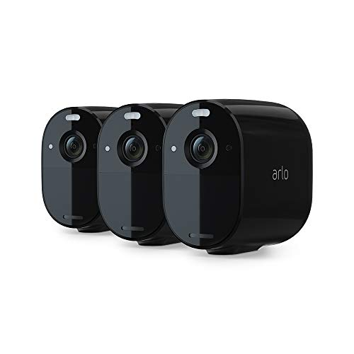 Arlo Essential Spotlight Camera – 3 Pack – Wireless Security, 1080p Video, Color Night Vision, 2 Way Audio, Wire-Free…