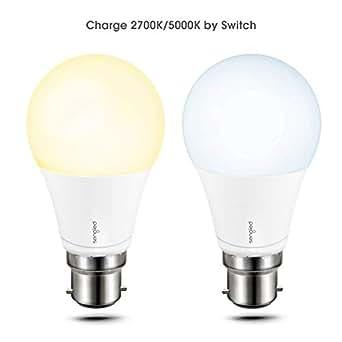 Sengled Smart Bombilla LED Inteligente y Estándar 60 Casquillo B22 Edison, 60 W, Cambio de Temperatura,2700K-4000K Con Interruptor Pared 2 Unidades [Energy ...