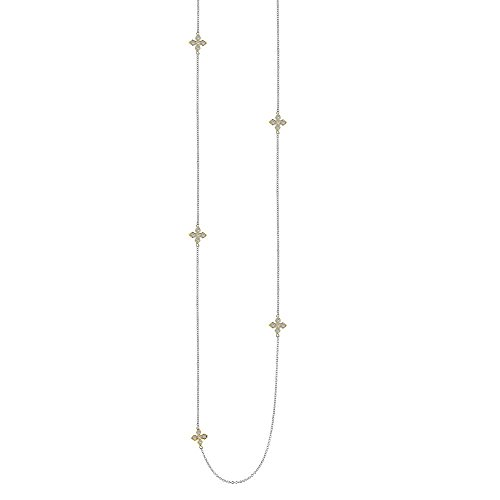 Lafonn Classic Simulated Diamond Necklace, Two-Tone (CTTW: 1.2)