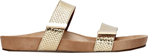 Vionic Womens 341 Jura Leather Sandals Gold Snake XUrFtIN