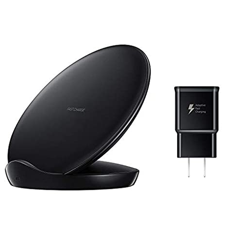 - 31 2BuL9VMgPL - Samsung Qi Certified Fast Charge Wireless Charger Stand (2018 Edition) – US Version – Black – EP-N5100TBEGUS