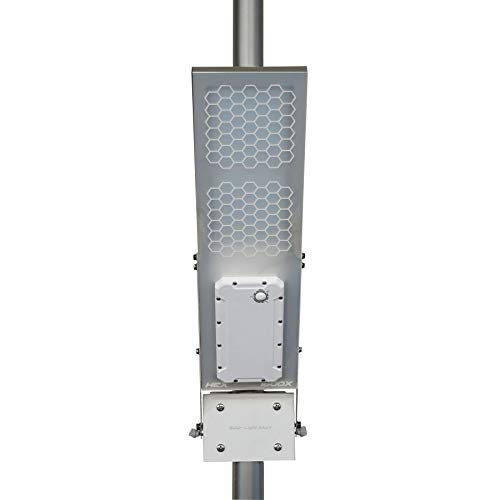 HEX 1600X Pole Mount Solar Light//Solar Ambience Street Light Warm White LED Lithium Battery 3-Level Power Setting Fits Max Pole Diameter 3.0