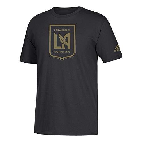 adidas Los Angeles FC Men's Team Logo T-Shirt (Black, Medium)