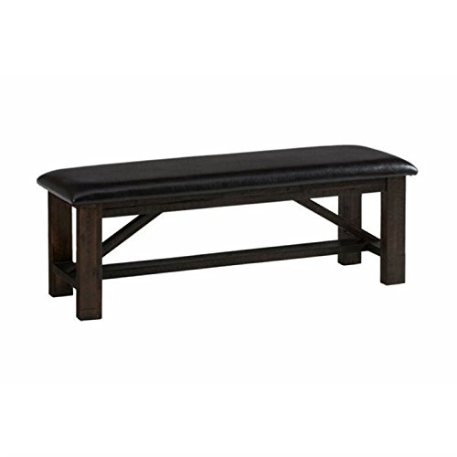 Upholstered Bench Chocolate - BOWERY HILL Upholstered Bench in Deep Chocolate