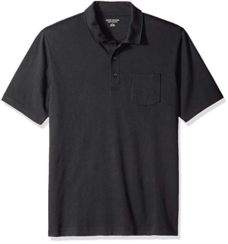 Amazon Essentials Men's Regular-Fit Pocket Jersey Polo, Black, Small Casual Cotton Polo Shirt