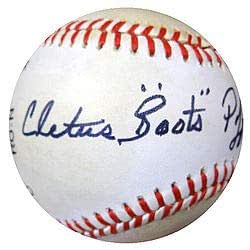 Cletus Boots Poffenberger Signed National League Baseball