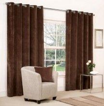 Mesola Velvet Eyelet Lined Curtains