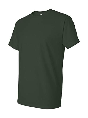 (Gildan mens DryBlend 5.6 oz. 50/50 T-Shirt(G800)-FOREST GREEN-XL)