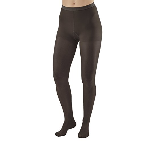 AW Style 78 Soft Sheer Compression Pantyhose - 8-15 mmHg Black Queen Plus 78-QP-Black Nylon/Spandex ()
