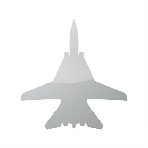 メタリックF - 14 TomcatステッカーDie Cut f14ゴールドシルバークロムメタル A741-METAL-SILVER-1  メタリックシルバー B073L2CY14