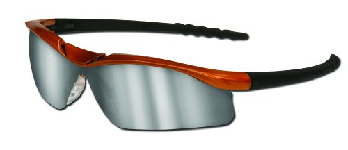 - MCR Safety DL217 Dallas Safety Glasses with Nuclear Orange Frame and Silver Mirror Lens