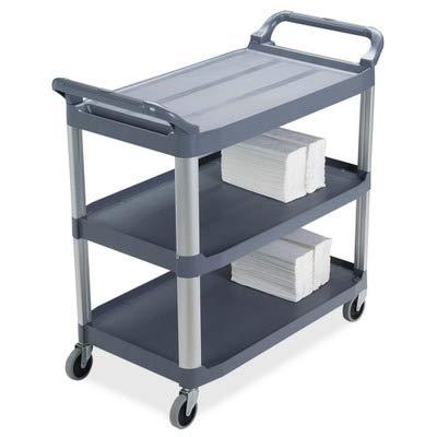 (RCP409100 - Rubbermaid 3-Shelf Mobile Utility Cart)