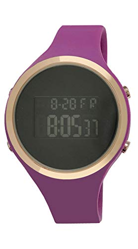 Moulin Ladies Digital Jelly Watch Dark Screen Plum #03158-76180