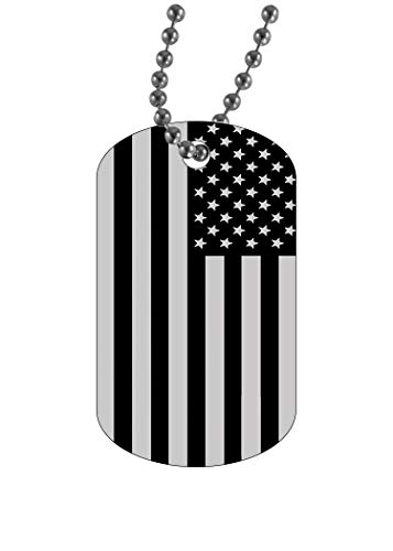 Rogue River Tactical USA Flag Dog Tag Pendant Jewelry Necklace Subdued Military American United States