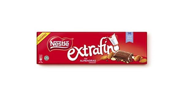 Nestlé Extrafino Chocolate con Leche y Almendras - Tableta de Chocolate - 15x300 g: Amazon.es: Alimentación y bebidas