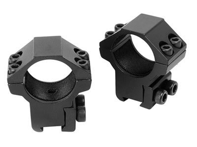 Crosman Center Point Full Size Two-Piece Medium Profile Integral Rifle Scope Mount for Airguns or Premium .22 Rifles