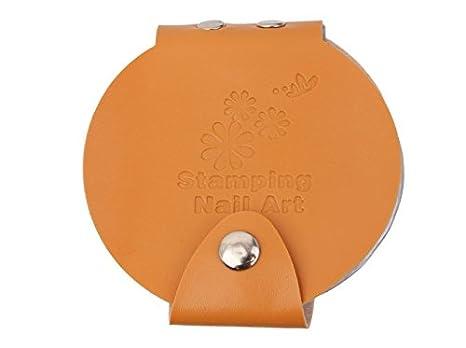 J * Myi récent Cuir Vernis à ongles nail art stamping Case/sac/fichier Tampon Album de modèle de support de stockage pour diamètre 5.6cm Pochoir A rose J*myi