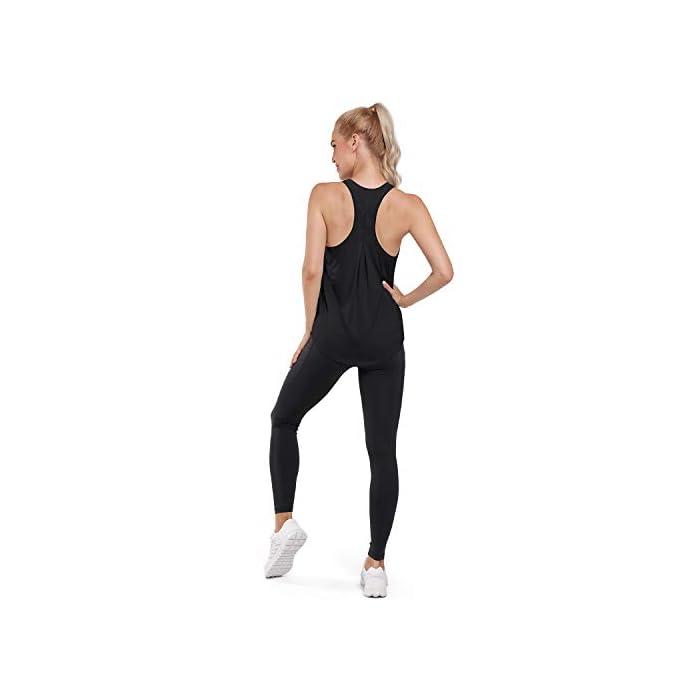 31%2BuYcNNWmL Camiseta sin mangas ultra suave y cómoda: hecha de tela súper suave y elástica (80% nailon + 30% spandex), liviana, transpirable y de secado rápido, perfecta para ropa deportiva y uso diario. Absorbe la humedad y de secado rápido: diseñado para eliminar la humedad de su cuerpo y proporcionar la máxima comodidad; mejorar su rendimiento de yoga / carrera / entrenamiento. 80% Nailon, 20% Elastano