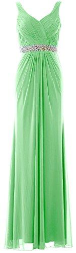 V Sheath Prom Neck Straps Women Gown MACloth Formal Long Minze Wedding Dress Evening xaYtwqx5n4