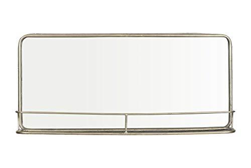 Creative Co-op Silver Metal Framed Shelf Mirror, Double Vanity, ()