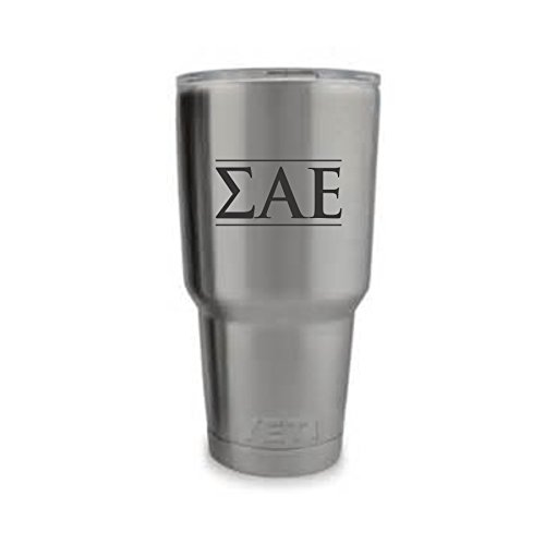 Sigma Alpha Epsilon Fraternity SAE Greek Letters laser marked on 30 oz Travel Tumbler with Lid - Fraternity Gift