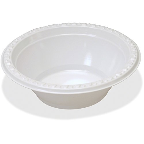 Tablemate 12244WH Plastic Dinnerware, Bowls, 12oz, White (Pack of 125) (Plastic Dinnerware Tablemate)