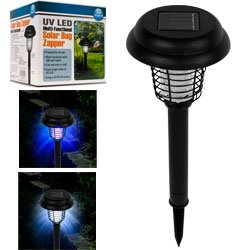 Pure Garden Solar Bug Zapper LED and UV Light (Set of 3)