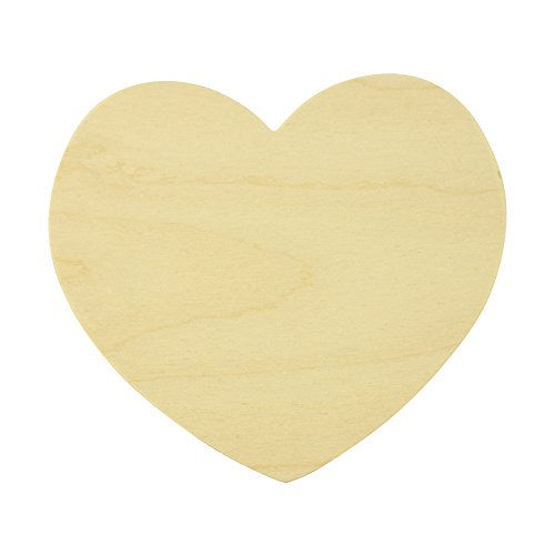 5 Wooden Heart Shapes 7