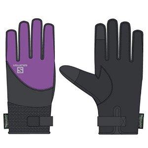 Salomon Women's Thermo Gloves Black / Little Violette XS from Salomon
